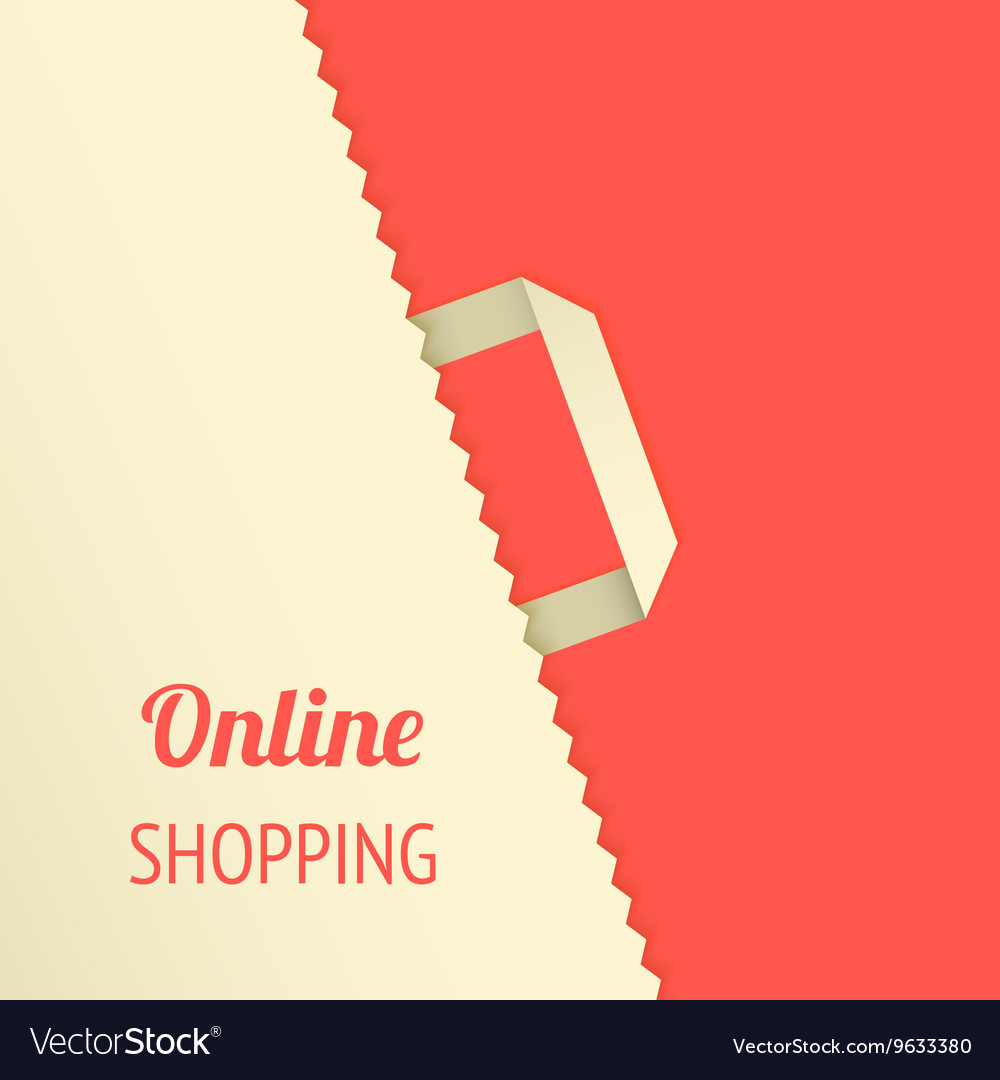 Flat background with shopping bag
