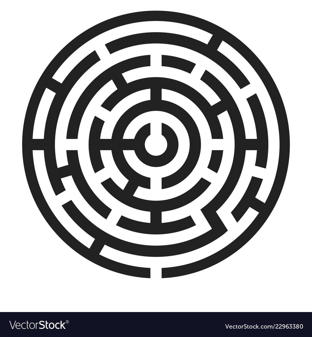 Maze Black Round Puzzle Royalty Free Vector Image