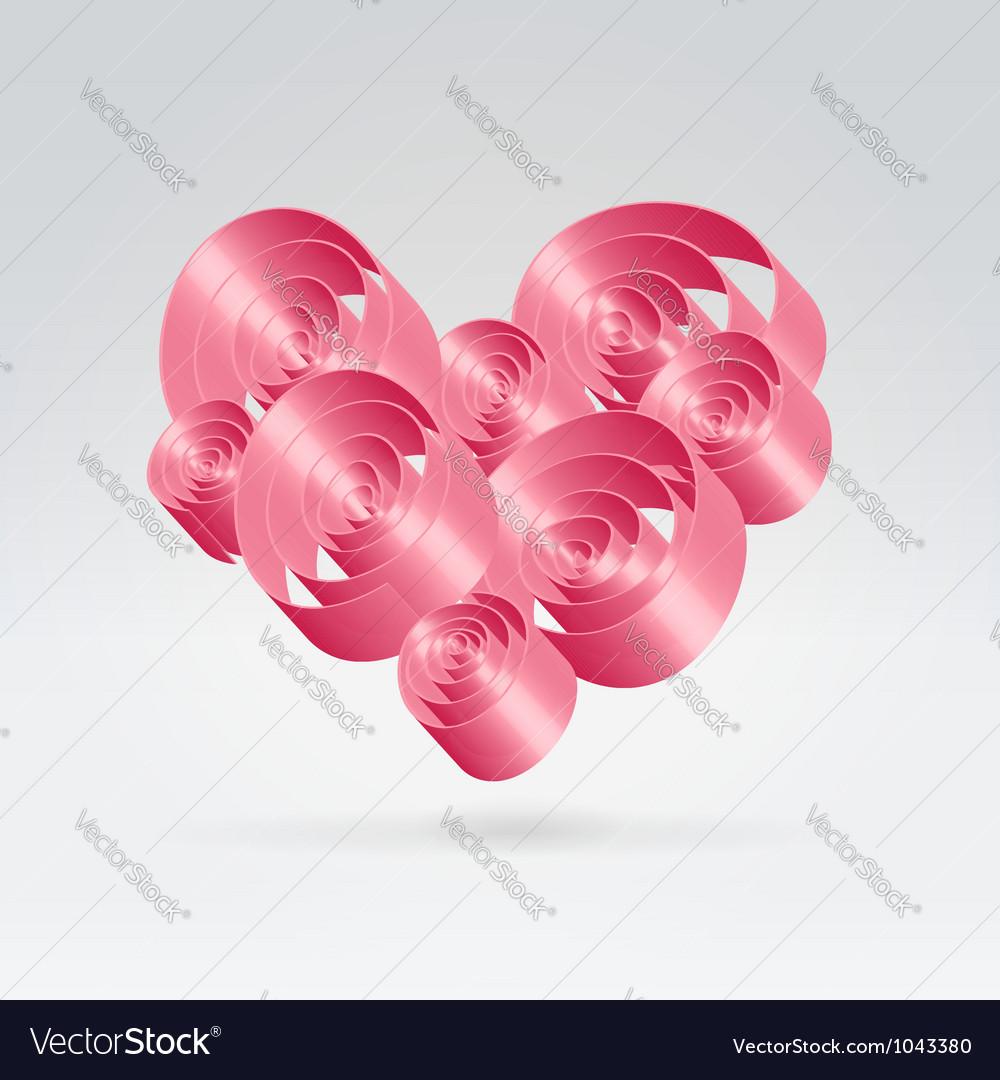 Romance ribbons bouquet vector image