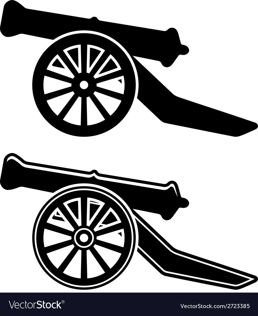 Ancient cannon symbol vector image
