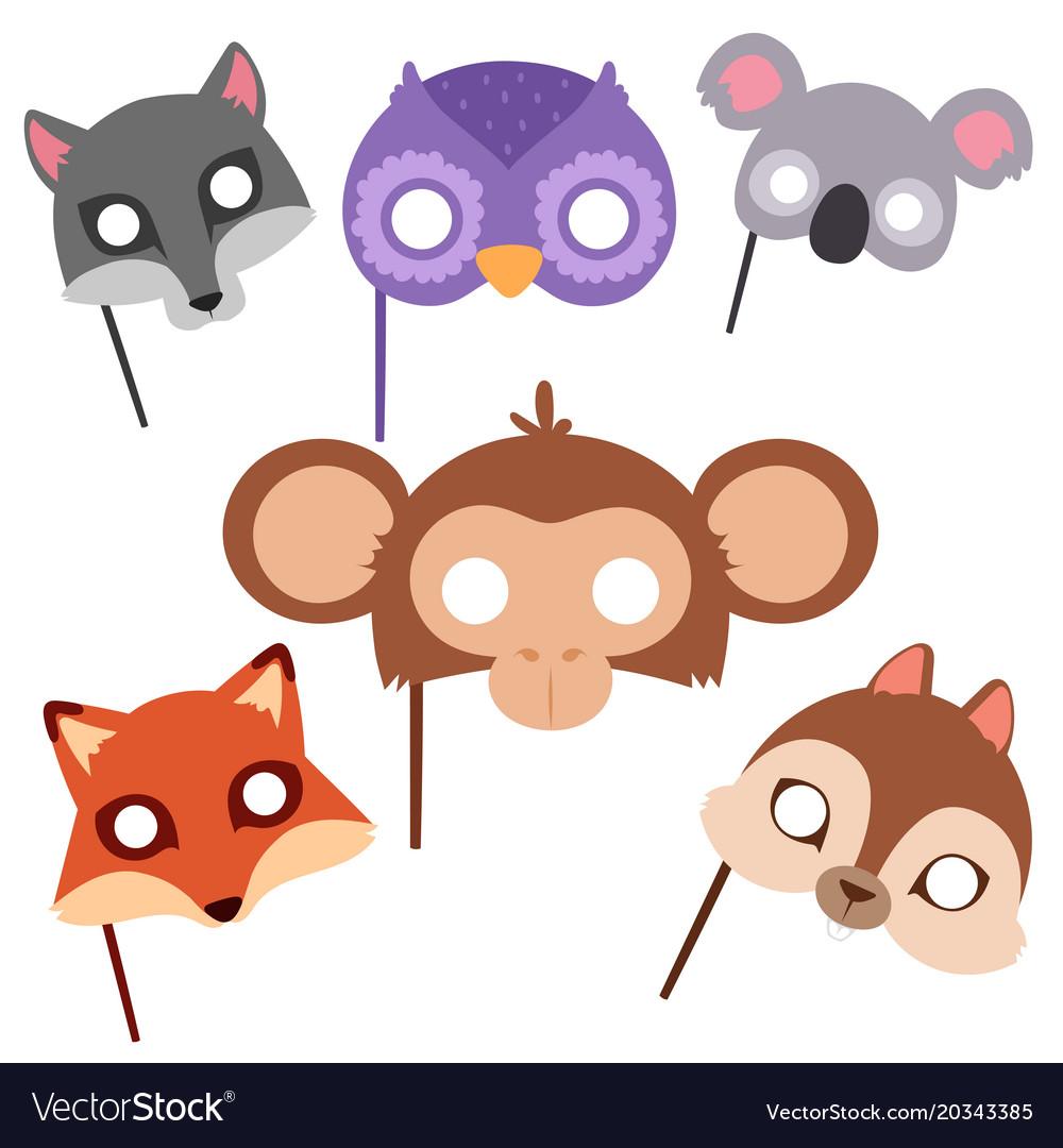 Animals carnival mask festival decoration
