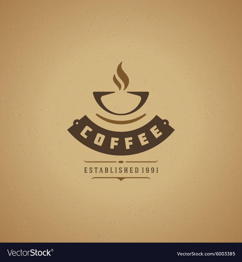 Coffee Shop Logo Design Element Royalty Free Vector Image