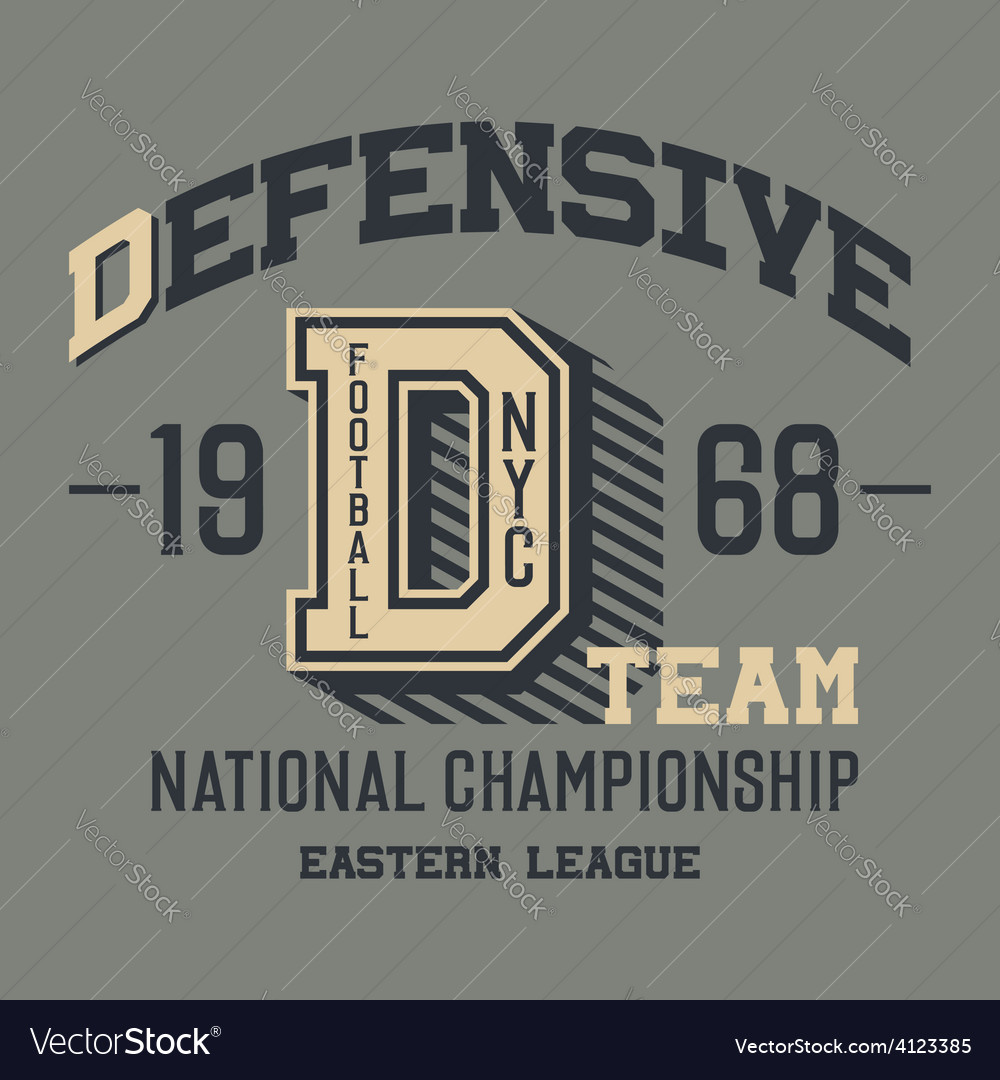 Defensive football team t-shirt