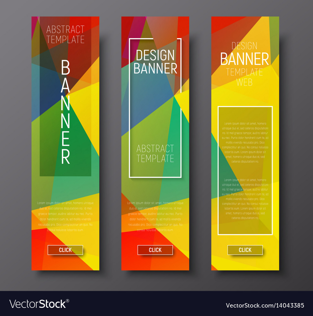 Design vertical banners with polygonal