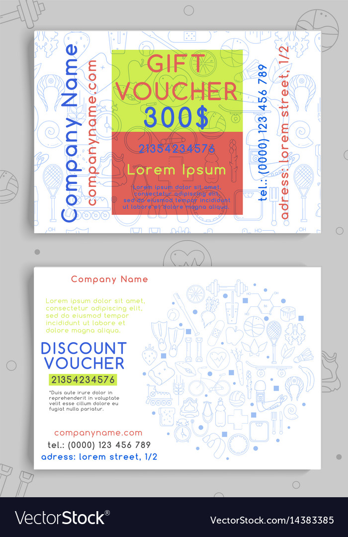 Discount and gift vouchers for a sports shop vector image