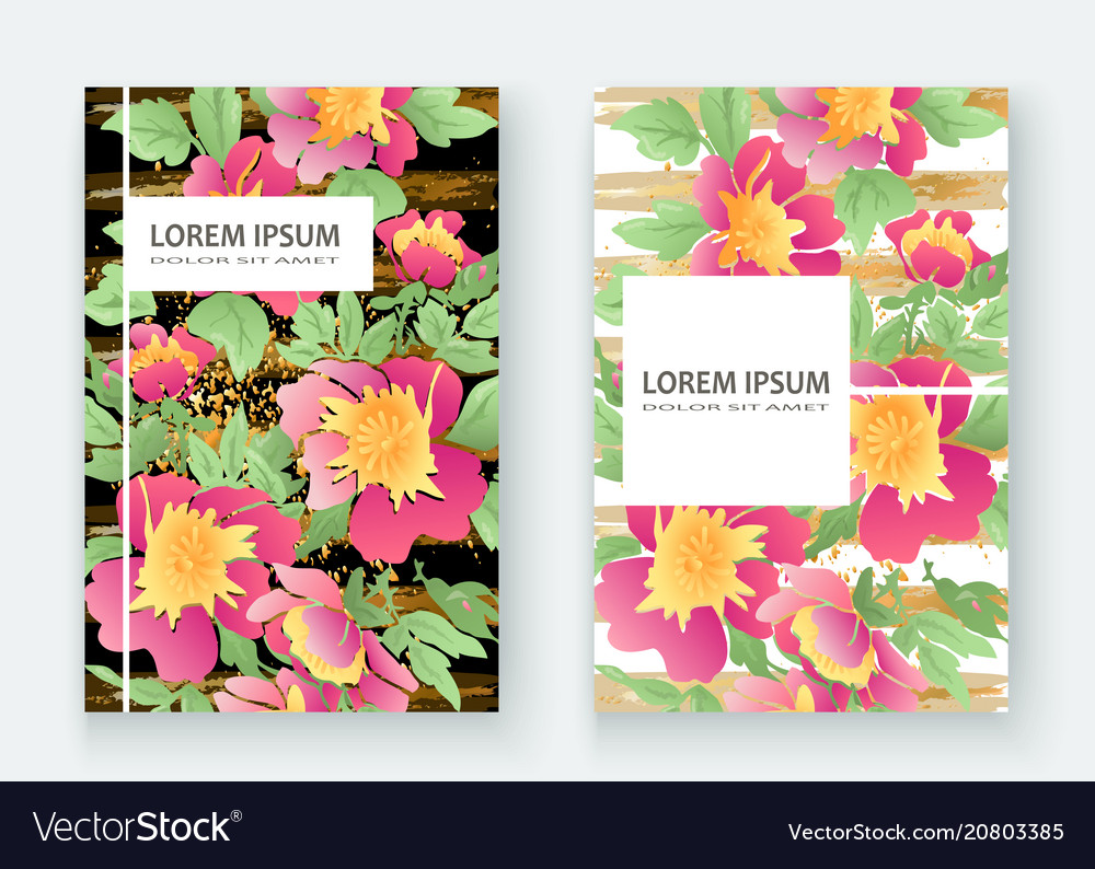 Greeting cards with flower rose wreath leaves