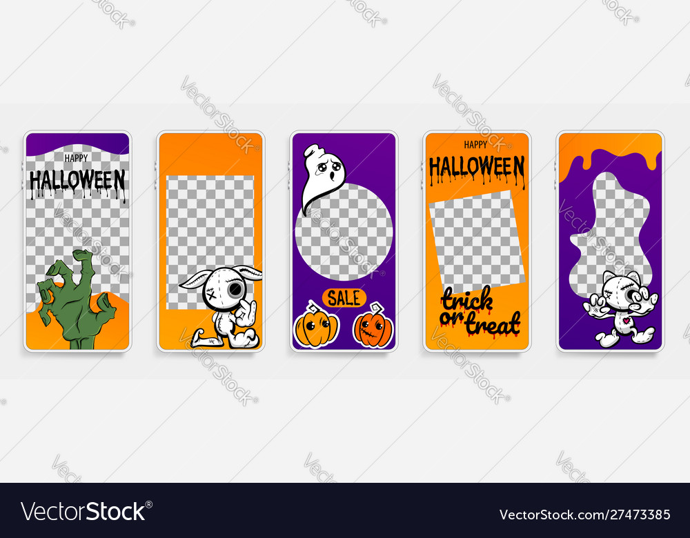 Happy halloween stories template for phone photo