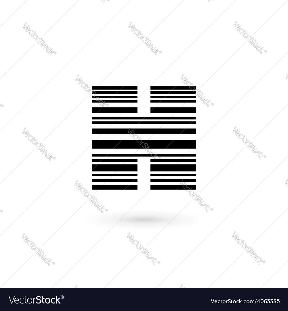 letter h barcode logo icon design template vector image
