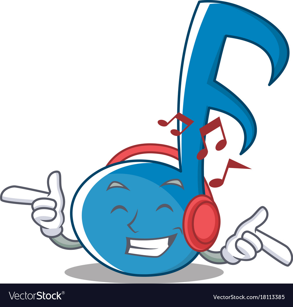 cartoon listening note character vector royalty