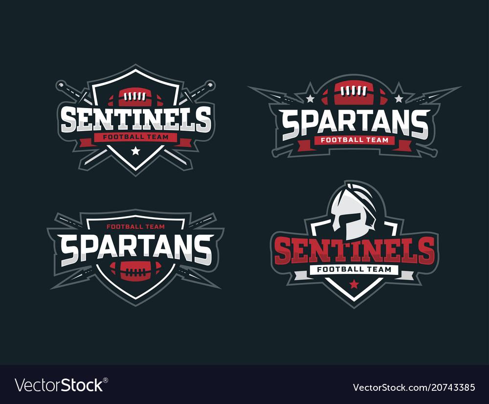 Modern professional football logo set for sport