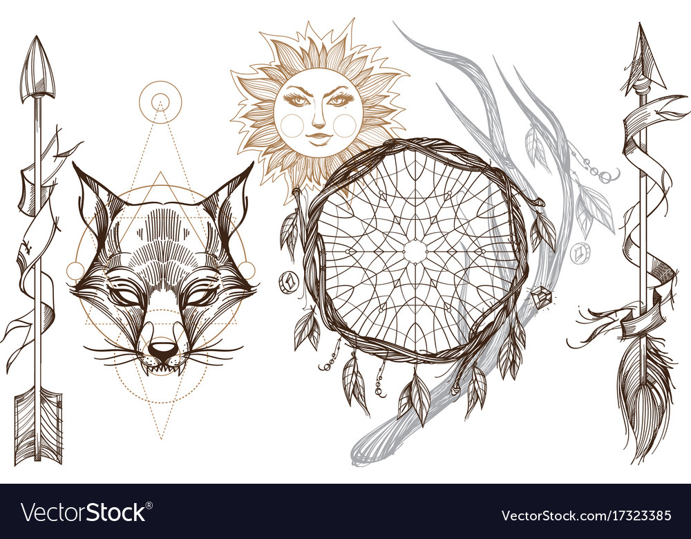 Muzzle fox for creating sketches of tattoos