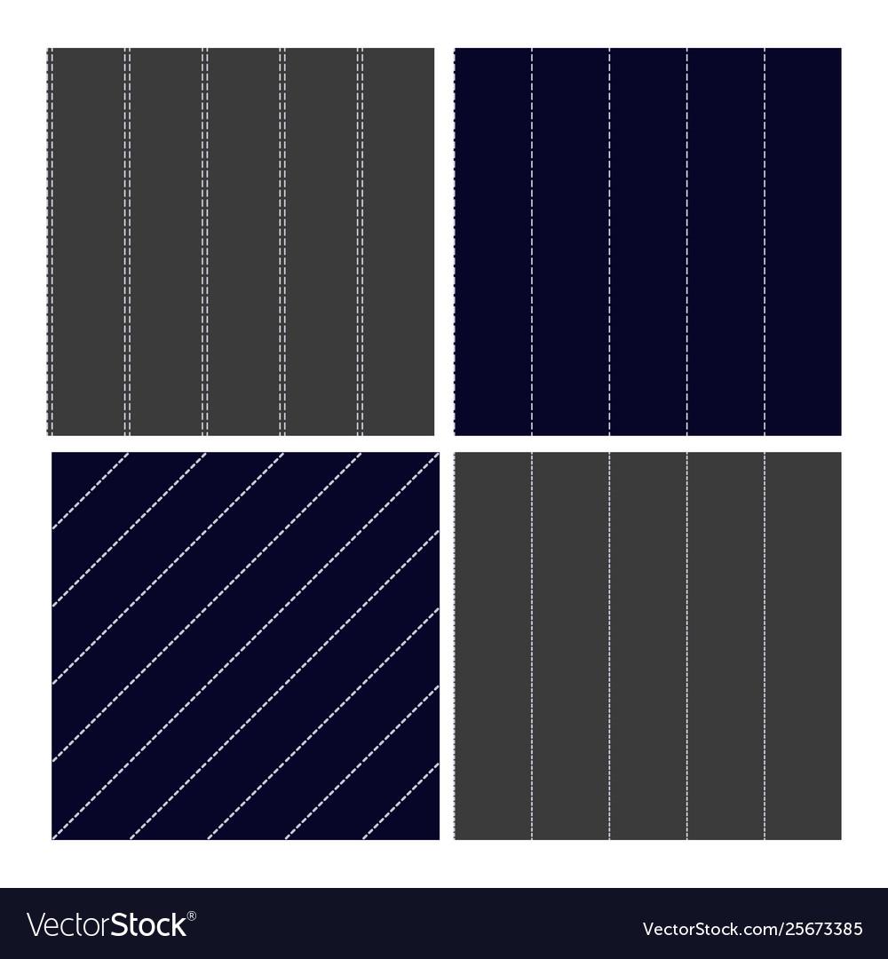 Pinstripe collection seamless pattern set