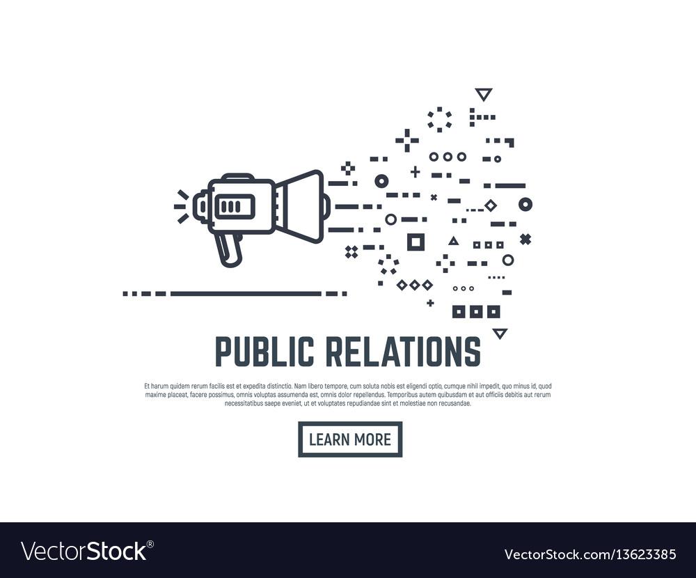 Public relation concept vector image