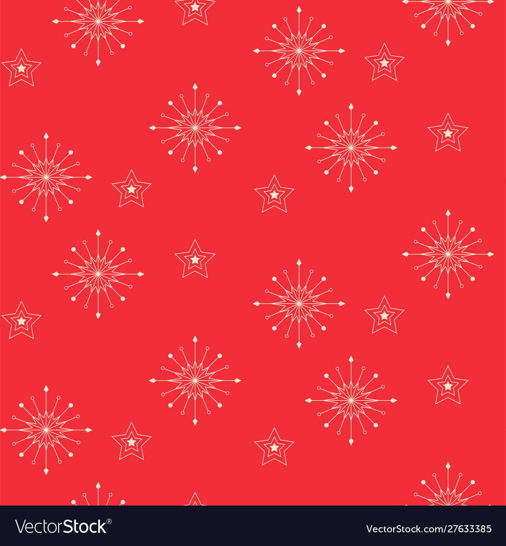 Snowflake seamless pattern red new year