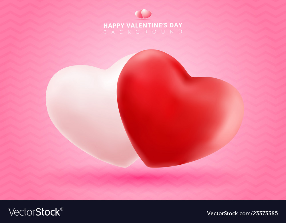 Soft and smooth red and white valentines hearts