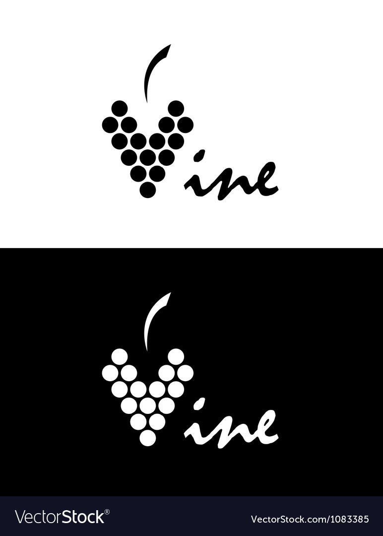 Vine Logo Royalty Free Vector Image Vectorstock ✓ free for commercial use ✓ high quality images. vectorstock