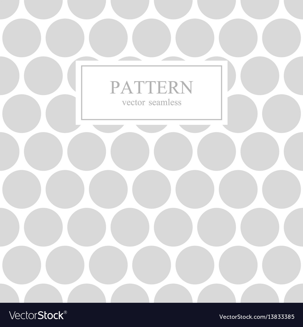 White and gray dotted seamless geometric pattern