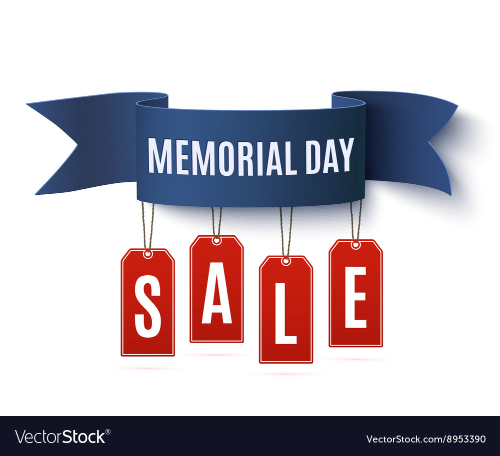 Big Memorial Day sale background template