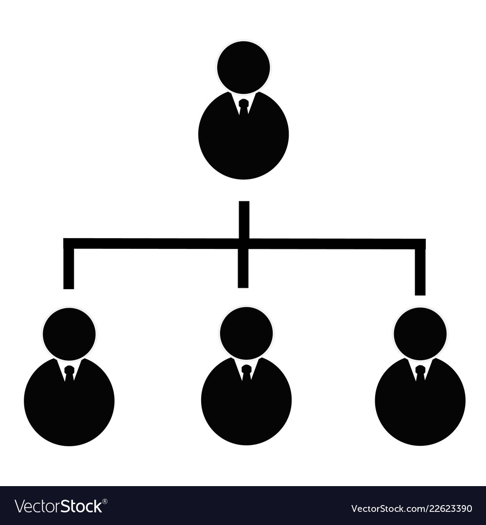 business hierarchical icon on transparent vector image vectorstock