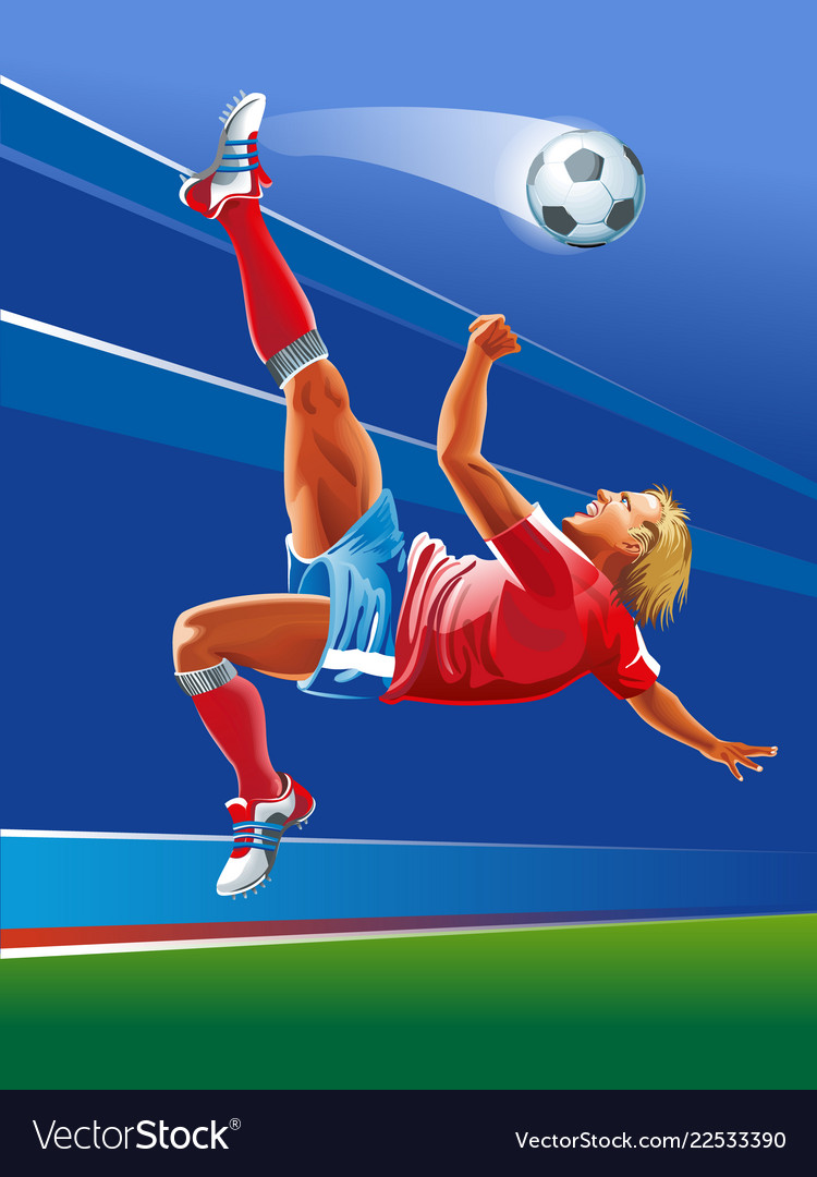 Concept of soccer player abstrackt background