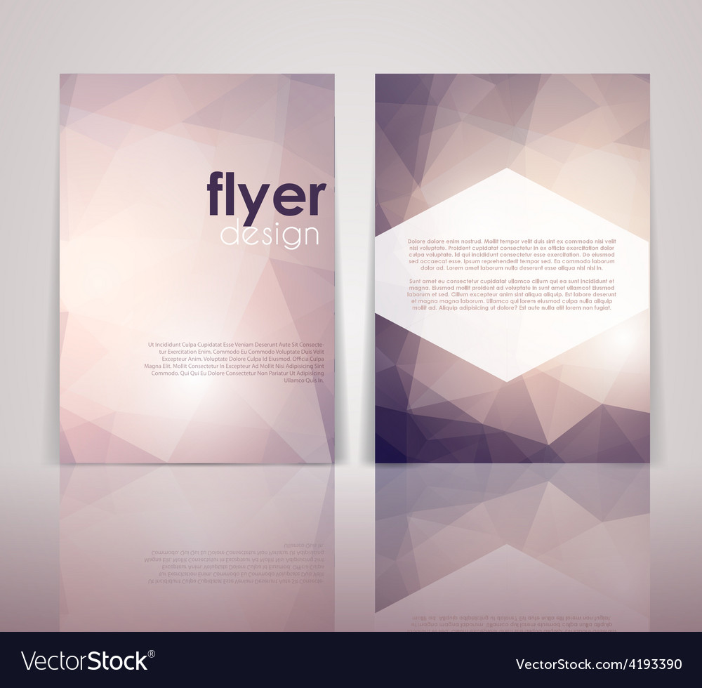 Double Sided Flyer Design Royalty Free
