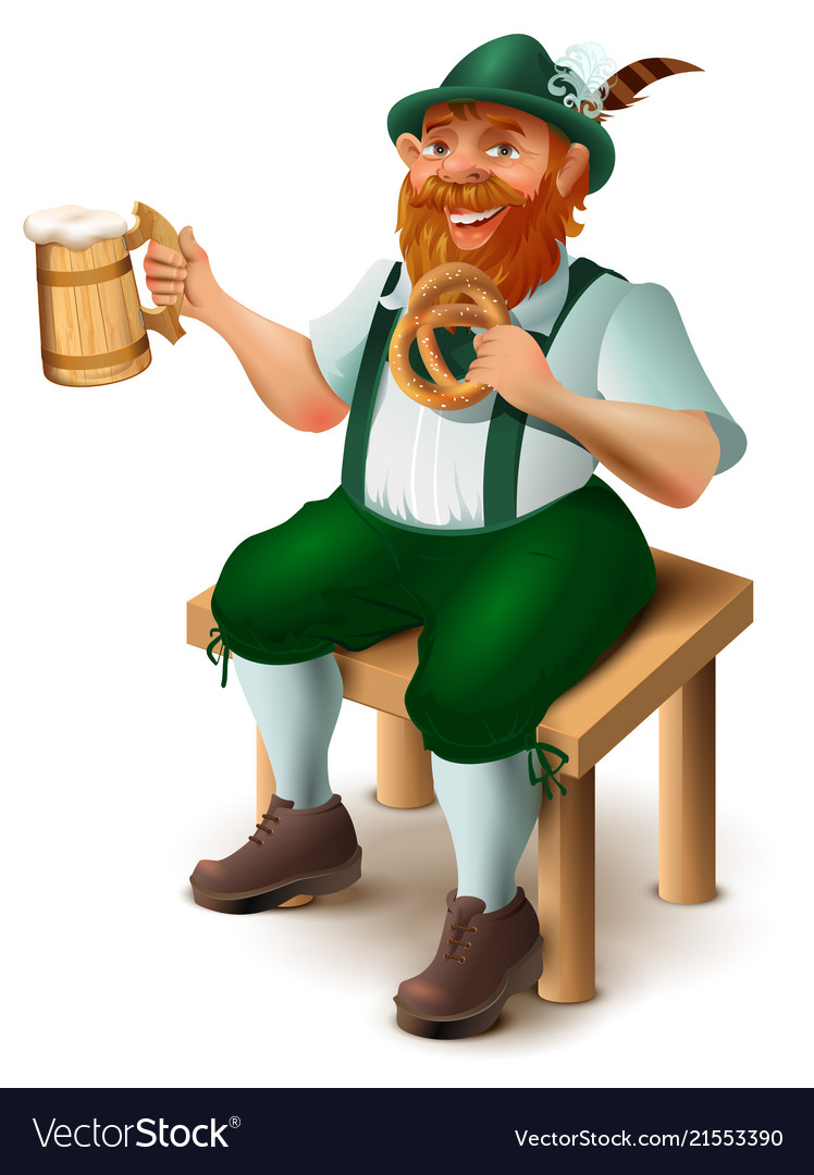 German in traditional costume with red beard
