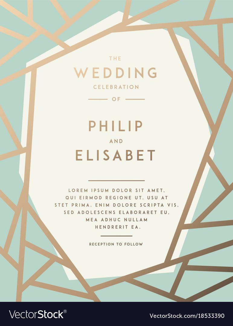 Golden wedding invitation template royalty free vector image golden wedding invitation template vector image stopboris Gallery