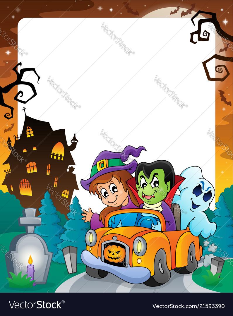 Halloween Theme Frame 5 Vector Image