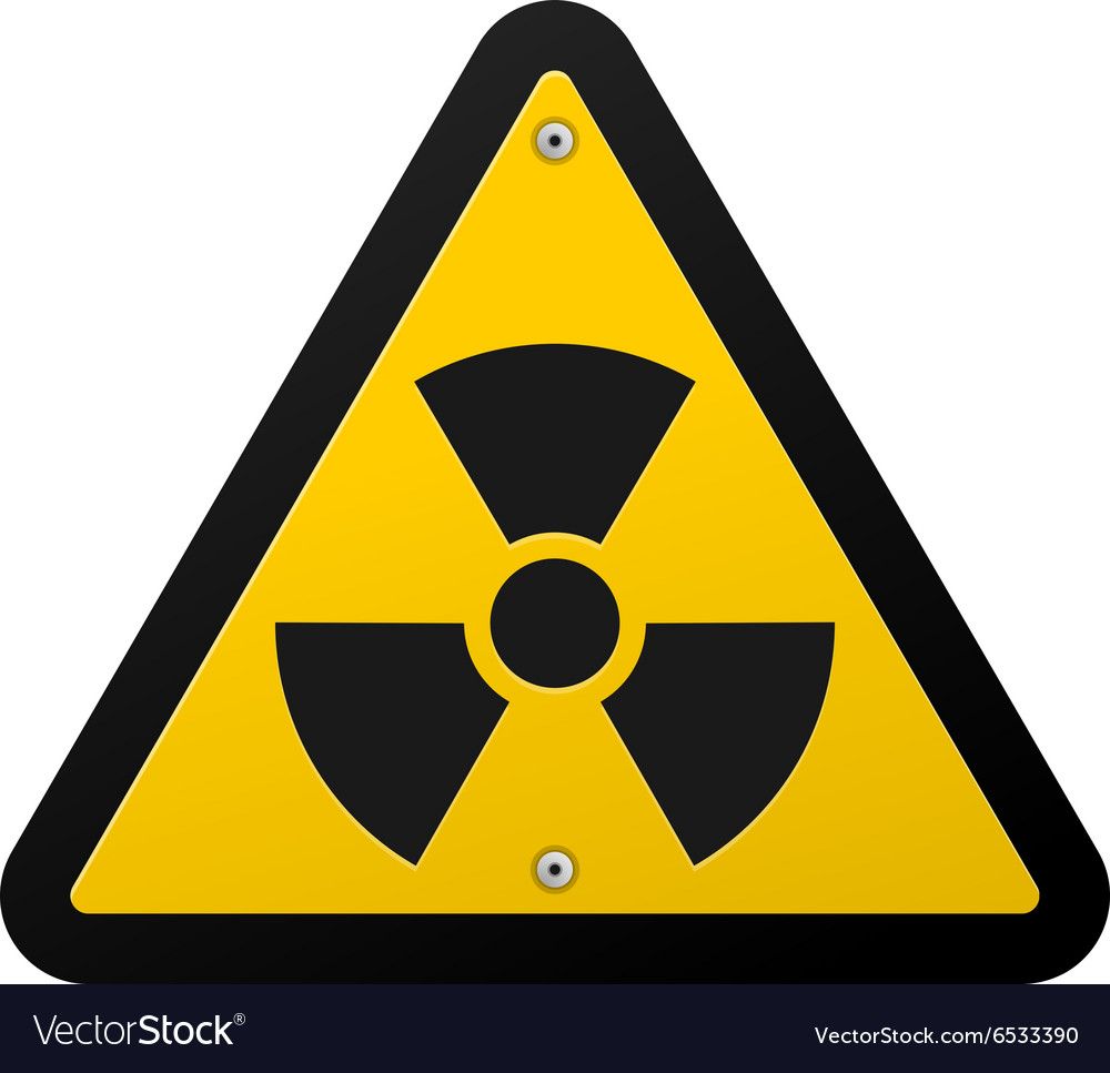 Nuclear Radiation Symbol Royalty Free Vector Image