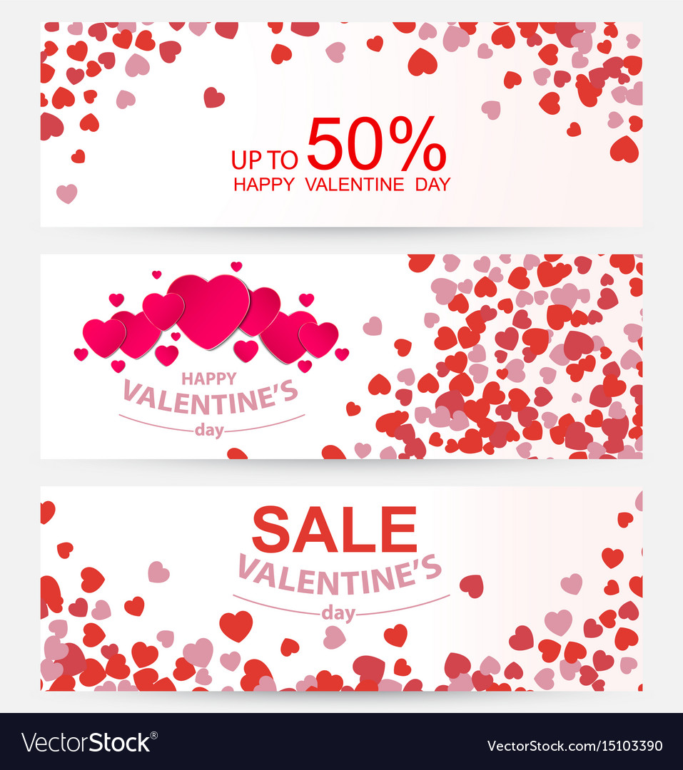 Sale header or banner set with discount offer for