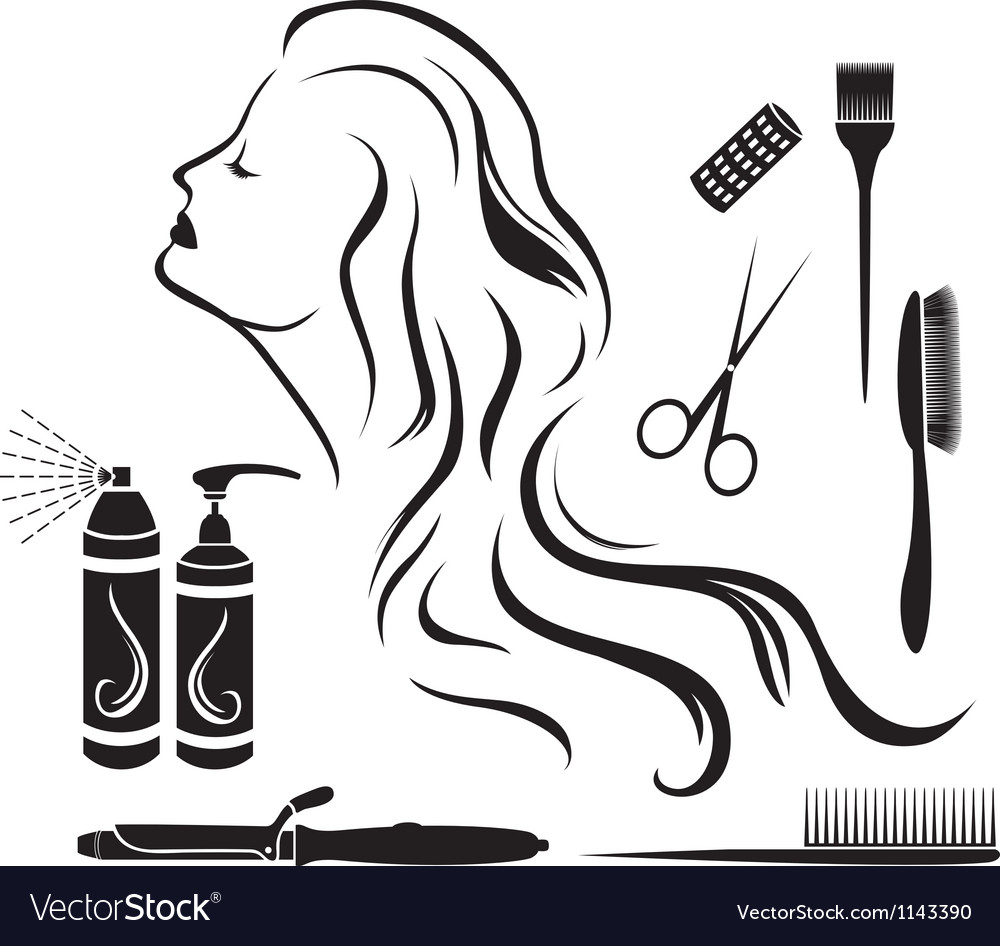 Set for hairdressers hairdressing