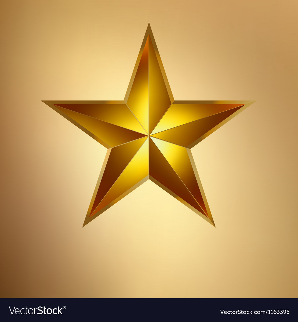 A Gold star on gold EPS 8