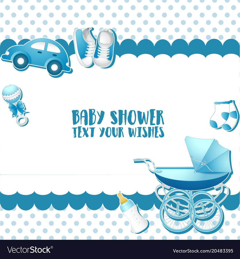 Baby Shower Invitation Card Template Place For Te