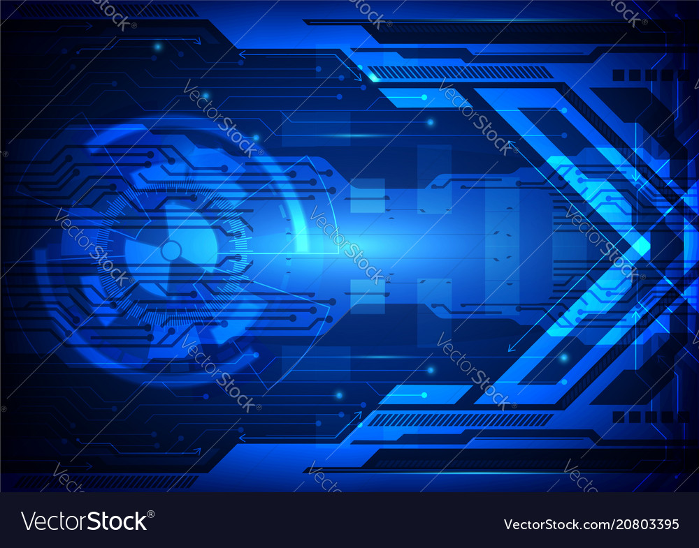 Blue abstract background digital technology