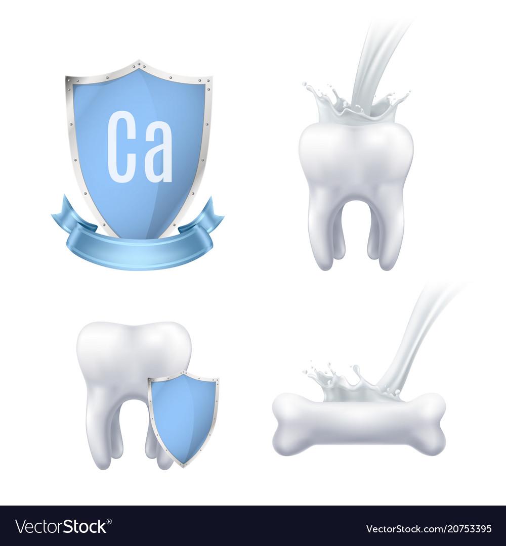 Calcium protection realistic set