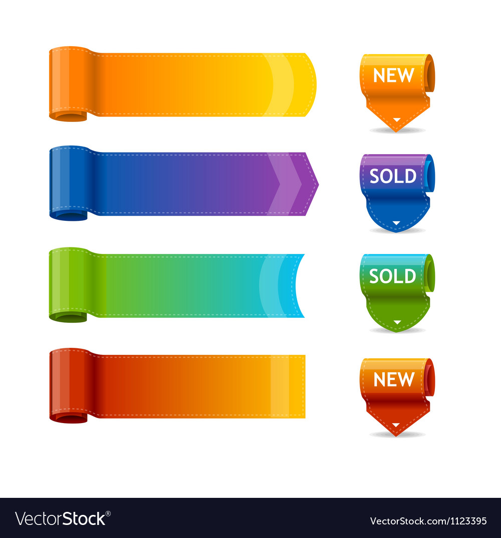 colorful text box templates royalty free vector image