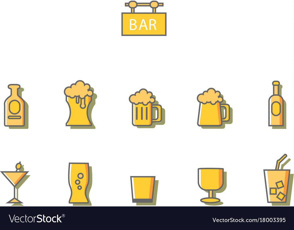 Drink bar vector image