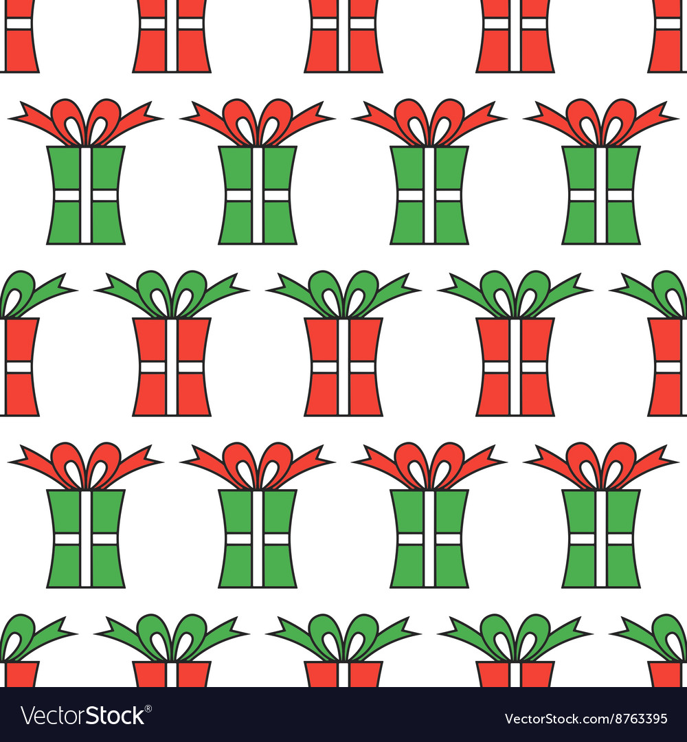 Gift boxes packaging Seamless pattern of boxes