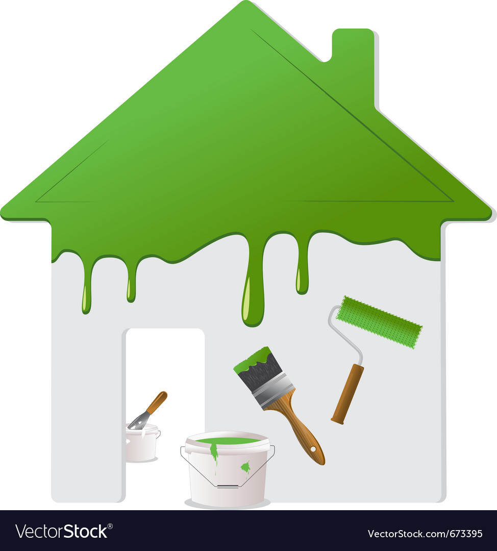 Home repair and painting tools vector image