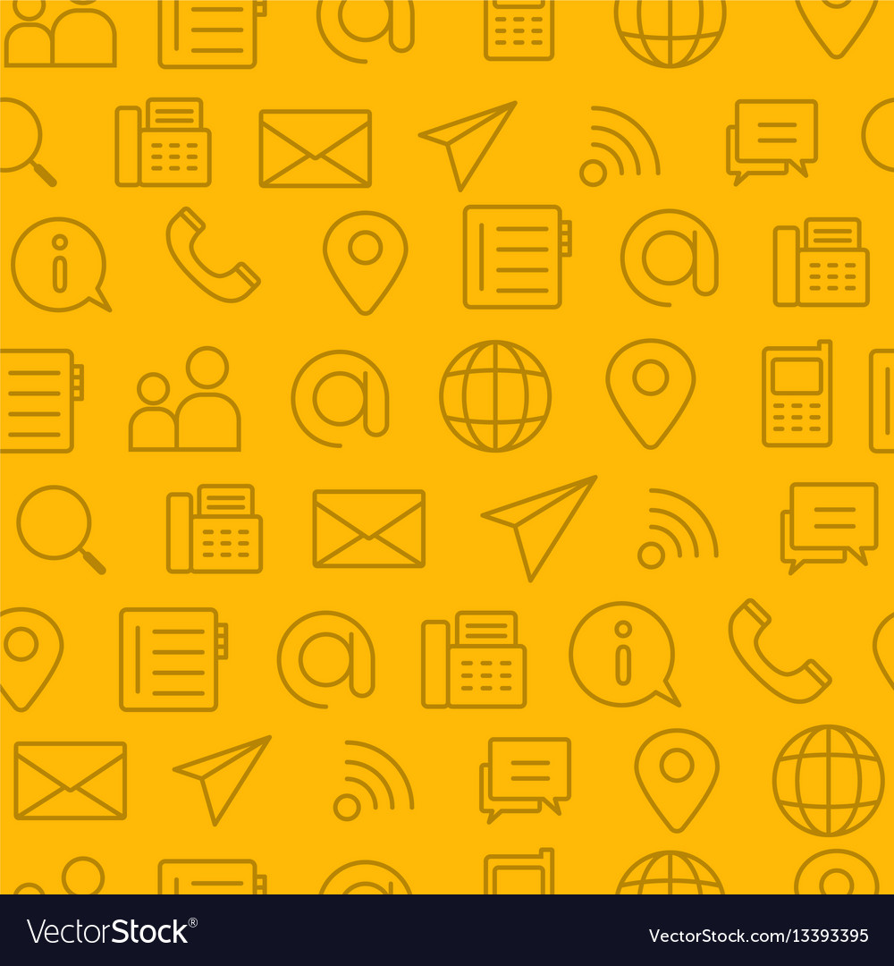 Line style icons seamless pattern icons contact