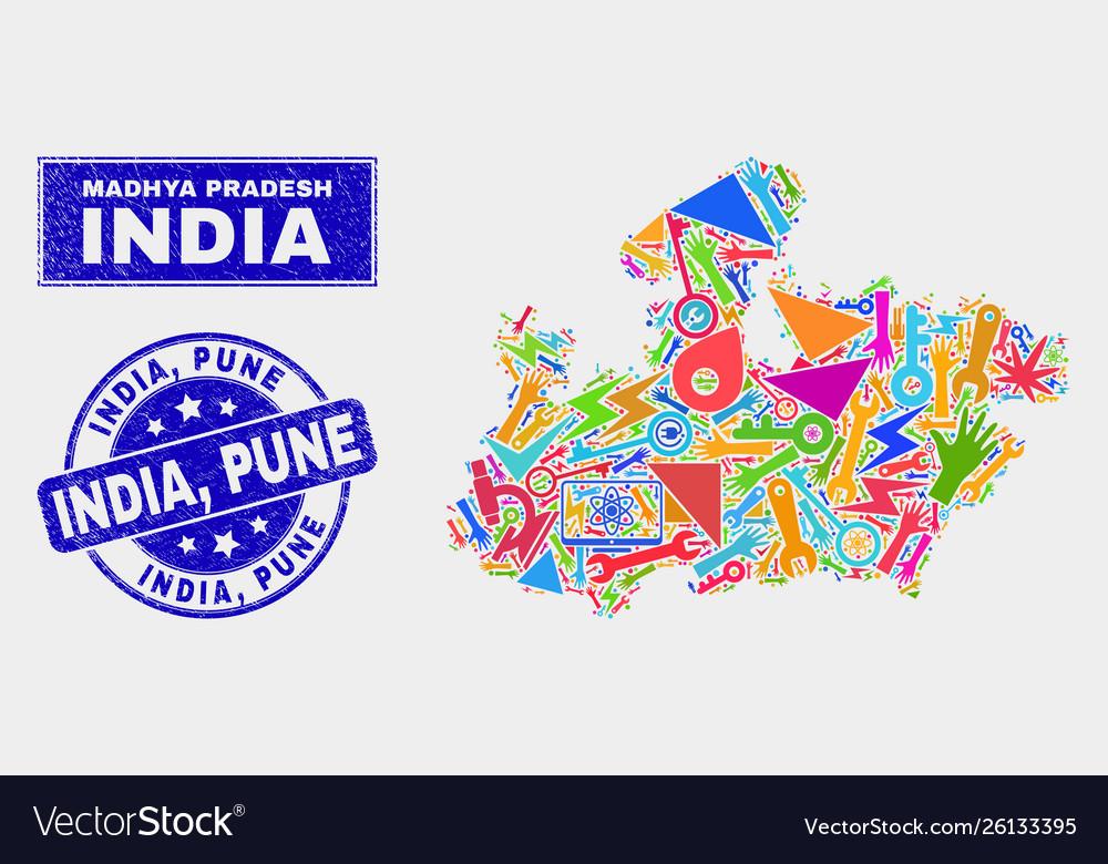 Mosaic technology madhya pradesh state map and on jharkhand state map, gujarat state map, orissa state map, bihar state map, haryana state map, chhattisgarh state map, kerala state map, assam state map, tamil nadu state map, telangana state map, bengal state map, maharashtra state map, karnataka state map, punjab state map, uttaranchal state map, andhra state map,