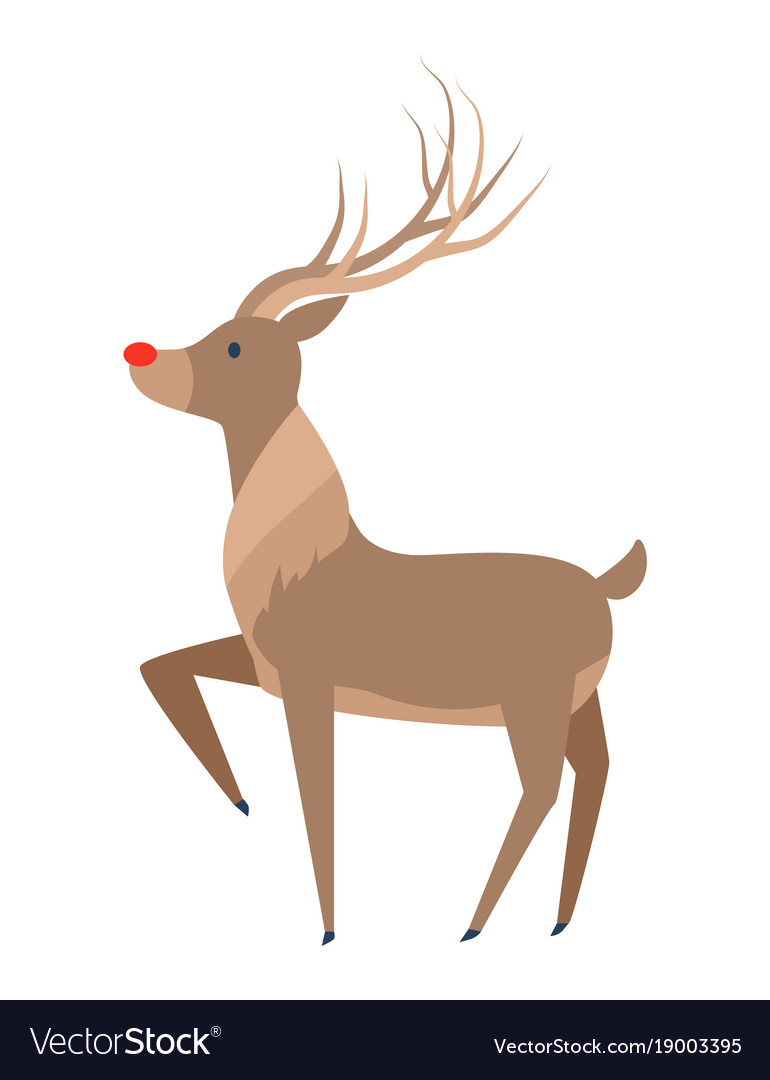 Reindeer with luxury horn profile side view