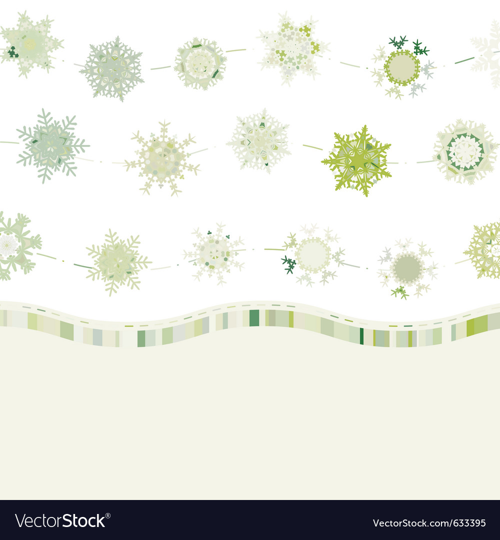 Retro card template with snowflakes eps 8 vector image