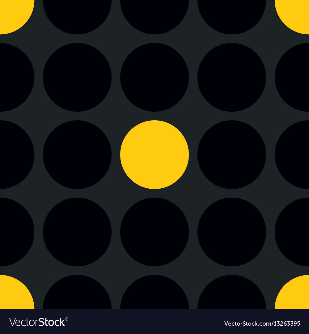 Tile patern with black and yellow polka dot
