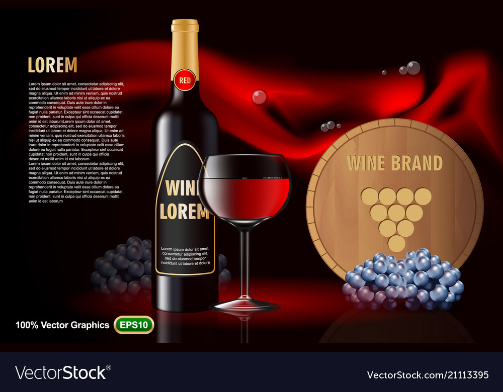 Wine advertising on nice background