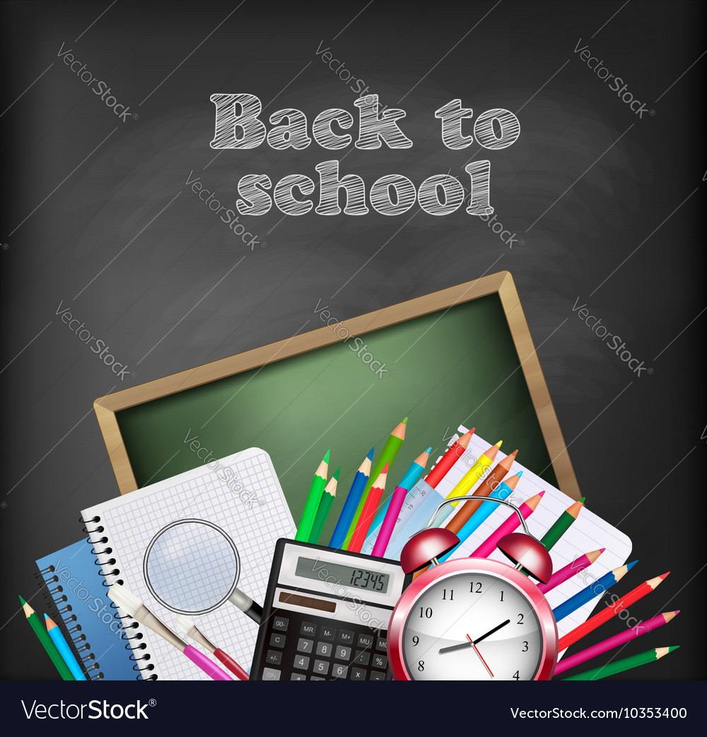 Back to school background with school supplies