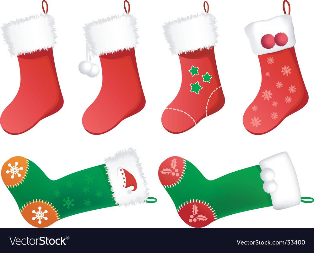 Christmas stockings vector image