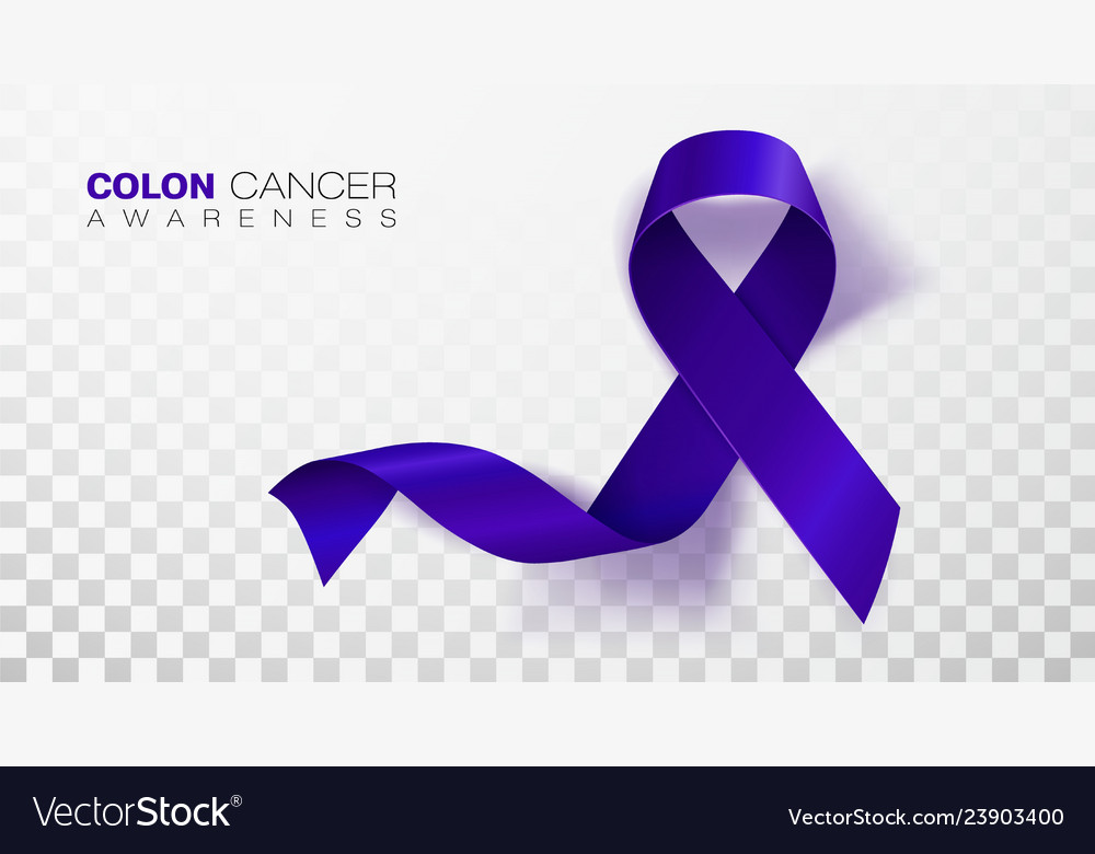 Colon Cancer Awareness Month Dark Blue Color Vector Image