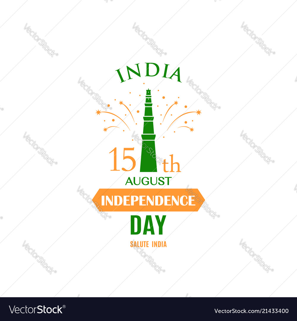 Greeting card for celebrating independence day