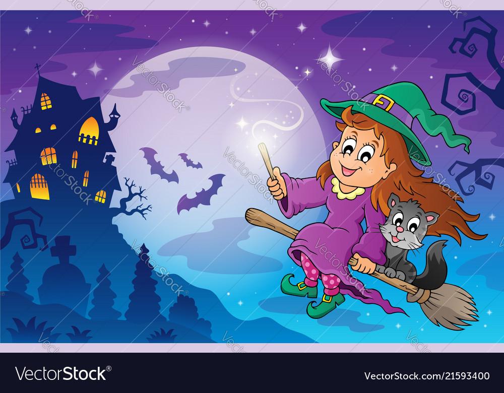 Halloween Theme Image 7 Vector Image